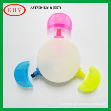 Round Shape Highlighter with 3 Colors
