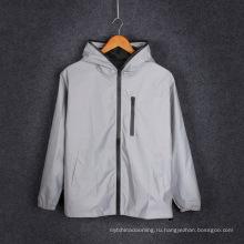 пользовательские серый высокая отражательная куртка безопасности светоотражающие безопасности куртка