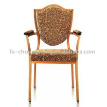 Cadeira de madeira de imitação com braços para o hotel (YC-D104-01)