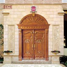 Porta de madeira antiga da mogno do projeto da porta principal da cinzeladura de madeira