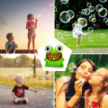 Outdoor Playing Toy Cartoon Frog Bubble Toys Electric Bubble Machines for kids