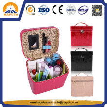 Colorful Makeup Leather Box with Mirror