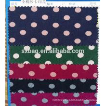 Lote de stock de tela tejida con estampado de sarga de algodón