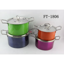 Stainless Steel Print Spraying Cookware Pot (FT-1806-XY)