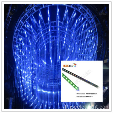 RGB 3D tube vertical conduit éclairage uk