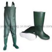Botas / zapatos de goma de la lluvia de Wellington