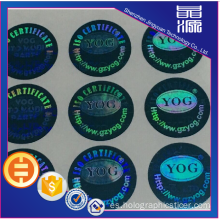 Etiqueta de seguridad PET 3D Hologram Sticker