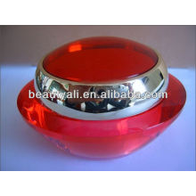 Red Acrylic Cosmetics Cream Jar