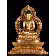 Азии фэншуй крытый сад дзен металлические ремесла бронзовый Будда статуя на продажу