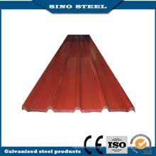 80G/M2 revestimento PPGI de zinco chapa de aço ondulada