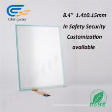 8,4 pulgadas Resisitve separación LCD pantalla táctil de cristal para reemplazo