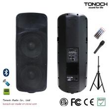 Dual 15 polegadas caixa de som de plástico para modelo THR215UB