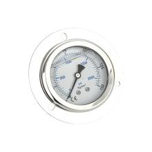 Manómetro de acero inoxidable lleno de silicona vendedor caliente