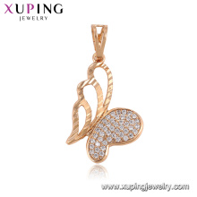 33293 Xuping shopping online trendy butterfly pendant luxury dancing stone jewelry for women