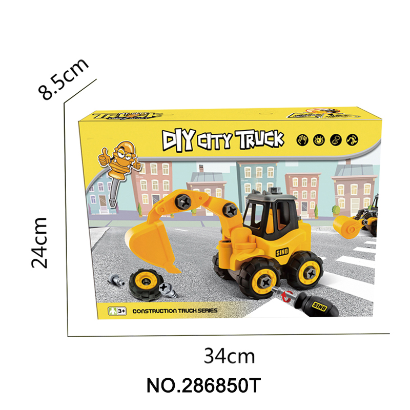 286850t Diy Truck Engineering Toys