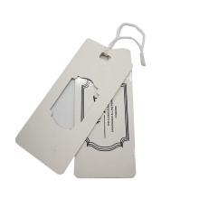 Factory Custom Design Paper Hangtag Garments Tag with Logo