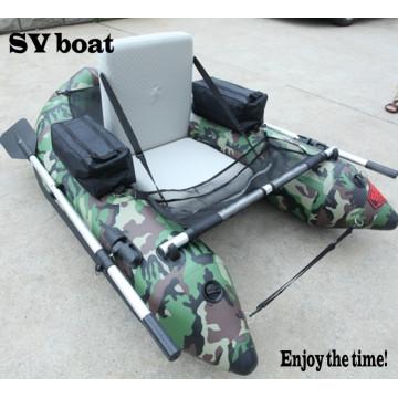 Pequeño barco de pesca conveniente del barco inflable individual del vientre