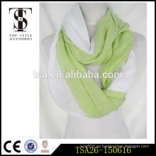 Hijab caliente de la raya de dos colores mujeres musulmanes atractivas de la bufanda del algodón de la bufanda material
