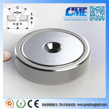 Super NdFeB D76.2X19.05mm Seltener Erde Permanent Pot Magnet