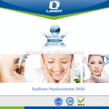 Ácido hialurónico puro do hyaluronate cosmético seguro do sódio da categoria dos cuidados com a pele