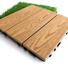 Composite Wood Deck Tile WPC Exterior Floor Tile for Outdoor Balcony Terrace