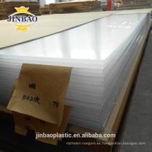 paneles de pared decorativos acrílicos de 2 mm 3 mm jinbao irrompibles de alto brillo