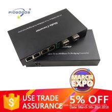 Gigabit 10/100/1000M Optical transceiver with 2 SFP ports 4 ethernet port