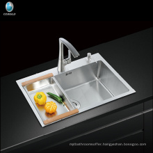 CUPC undermount single bowl stainless steel zero radius sink handmade kitchen sink