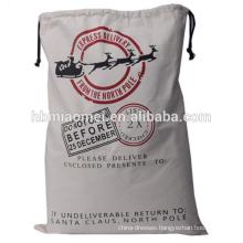2017 Wholesale Custom Flax Printing Christmas Bag