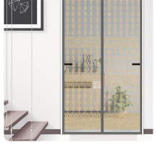 Magnetic fly screen  with Heavy Duty Mesh Curtain  mosquito net for door