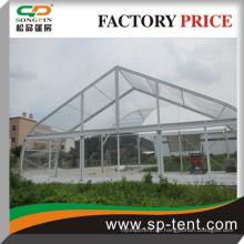 Transparente gebogene Hochzeitszelt-Zelte 20x20m mit klarer PVC-Dachabdeckung