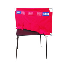Red Soft Screen for Bridge Club and Bridge School