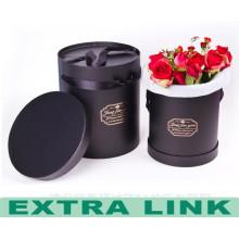 Good quality paper gift flower box round shape preserved flower cardboard box