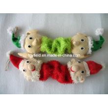 Elastic Santa Dog Toy Squeaky Bite Pet Product
