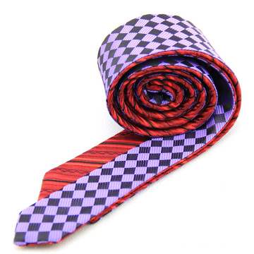 Bespoke doble cara todos los hombres chinos hechos a mano corbata privada etiqueta de seda