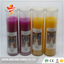 Unscented glass votive candles jars