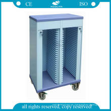 AG-CHT005 Best Quality Hospital Record ABS Decente Carretilla
