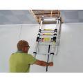 NUEVO EN131 súper calidad de aluminio multifuncional loft plegable escalera exsenion