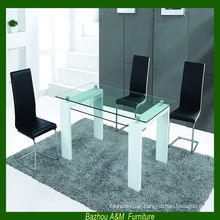 2014 alibaba furniture wooden dining table with glass top design