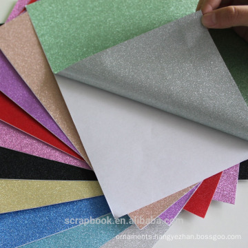 Colorful adhesive stickers glitter paper for scrapbooking 2016 fashion christmas alibaba china supplier