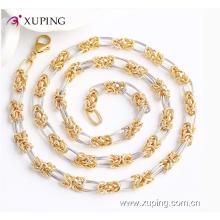 Collar de cadena de la joyería de la imitación del encanto multicolor de la moda 42886 con níquel libre