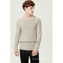Acrylic Wool Mixed Pattern Pullover Men Knitwear
