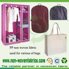 Pano não tecido do polipropileno usado para sacos do vestuário