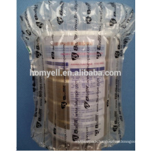 china air sealed bag with strong protection for glass bottle