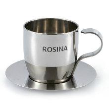 Набор металлических эспрессо чашка и блюдце вакуум кофе Кубок