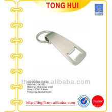 Blank logo metal bottle opener w/Nickel split rings