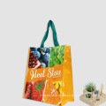 Promotion Reusable Grocery large recycled material pp woven laminated bag with Zipper closure