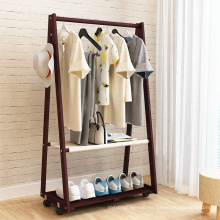modern folding solid pine wood clothes stand hanger rack