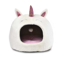 Cute Unicorn Pet Dog Cat Cave Bed  Luxury Puppy Cat Bed Cave House