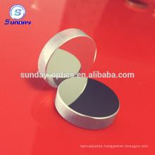Convex mirror with aluminum coating